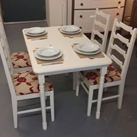 table and chairs repainted and reupholstered